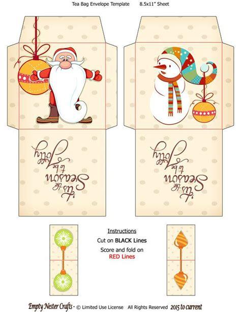 printable envelope christmas printable tea bag packet wrapper envelope topper be jolly