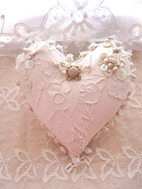 heart shape pillow lace shabby chic lace design