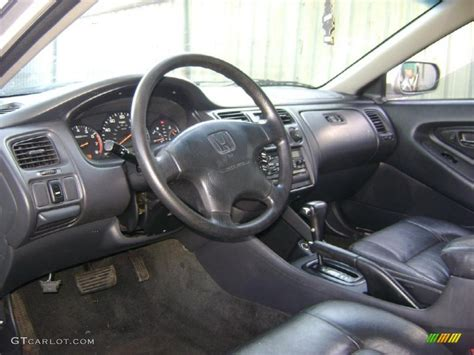charcoal interior 1999 honda accord lx coupe photo
