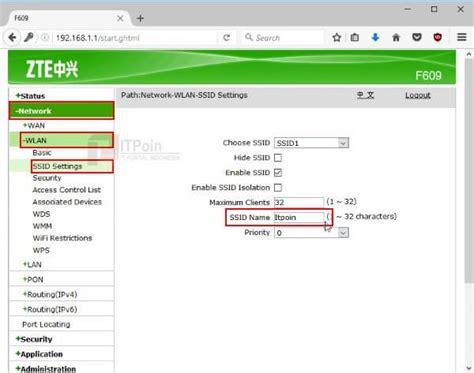 Wifi Indihome cara mengganti nama wifi dan password wifi indihome itpoin