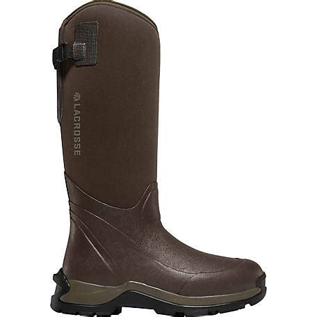 rubber boots at tractor supply lacrosse footwear men s alpha thermal 16 in brown rubber