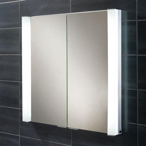 Arora Double Door Illuminated Mirrored Cabinet