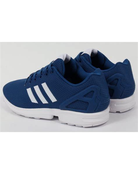 adidas originals zx flux trainers royal bluewhite
