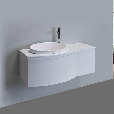 eviva curvy  white modern bathroom vanity wall mount