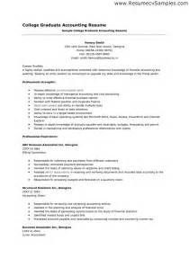 Resume Exle College Student by Resume For Recent College Graduate Berathen