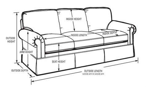 average sofa size measuring upholstery 101 part 2 sofa kovi