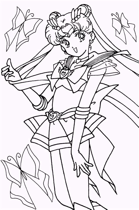 coloring pages for young toddlers sailor moon pose coloring