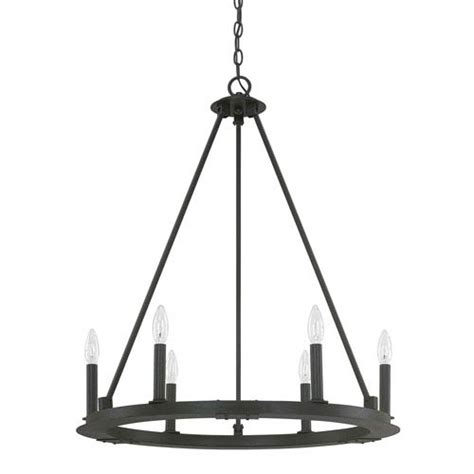Black Iron Lighting Fixtures Capital Lighting Fixture Company Pearson Black Iron Six Light Chandelier On Sale