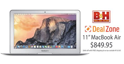 849 Macbook Is But Not That by 24 Hour Deal Fully Loaded 11 Quot Macbook Air For 849 800
