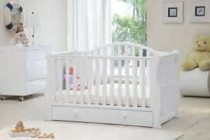 Sleigh Cot Bed White Oslo Sleigh Cot Bed White