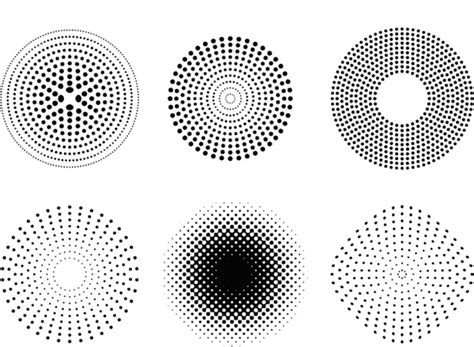 ai dot pattern vector dots and halftone pattern free vector in adobe