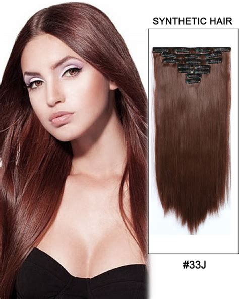synthetic hair extensions feshfen 24 one 3 4 clip in hair extensions