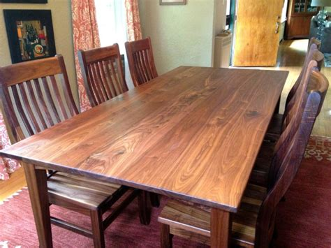 Solid Walnut Dining Table And Chairs Solid Walnut Quot Mission Quot Chairs Boulder Furniture Arts