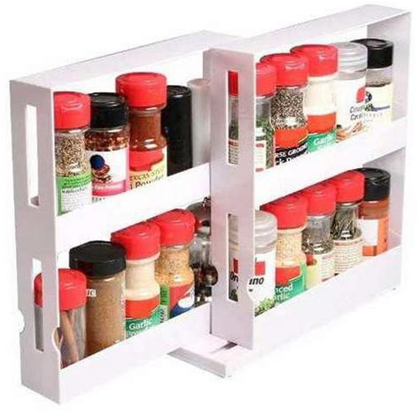 sliding spice rack for cabinet 2 tier spice rack cabinet holder shelf kitchen organizer