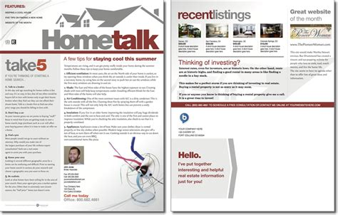 Hometalk Newsletter Template Issue 1 One Page Real Estate Website Templates
