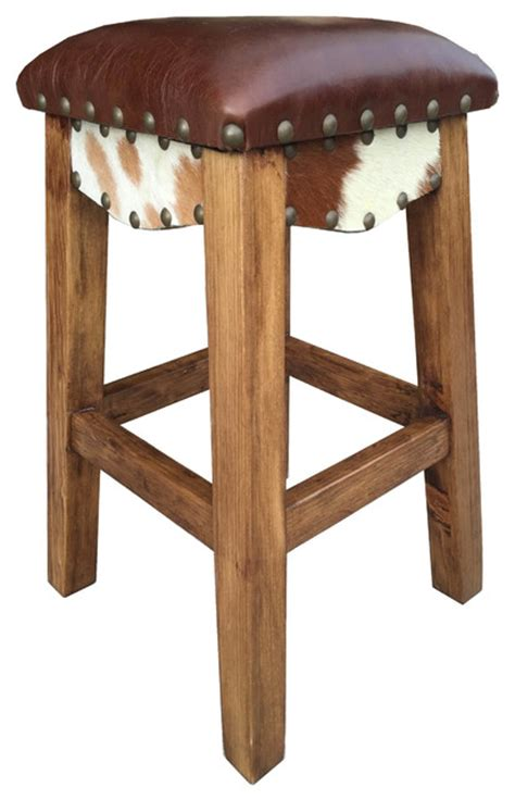 southwestern bar stools western bar stool leather 24 quot counter height