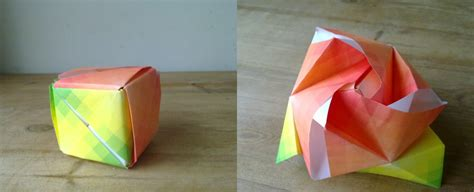 Origami Box Flower - origami box flower by machinesway on deviantart