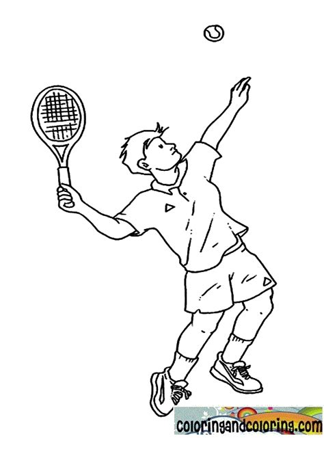 Tennis Coloring Pages To Print Tennis Coloring Pages