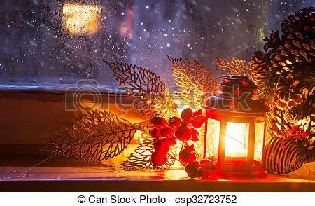Weihnachtsdeko Fenster Stock by Winter Gefrorenes Dekoration Fenster Weihnachten Laterne