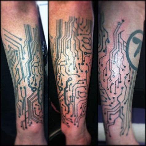 circuit board tattoo 60 circuit board designs for electronic ink ideas