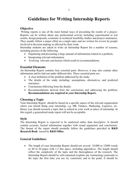 Report Format Writing A Template