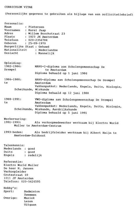Adressering Formele Brief Cv Voorbeeld 2018 voorbeeld zakelijke brief nederlands vmbo cv voorbeeld 2018