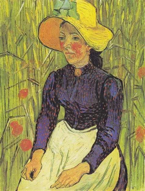 peasant against a background of wheat vincent gogh y las drugstore