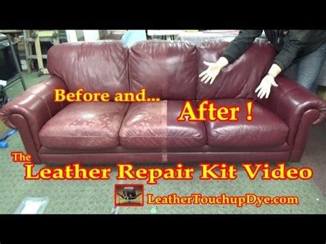 leather sofa restoration kit the leather repair kit video youtube leather sofa