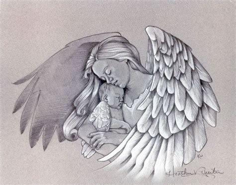 mom angel tattoo designs tattoos for warrior drawing