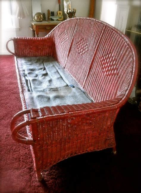 antique wicker sofa with springs 17 best images about antique wicker furniture on