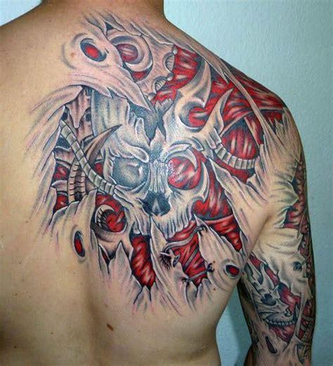 tattoo 3d jakarta biomechanical tattoo back amazing biomechanical tattoos