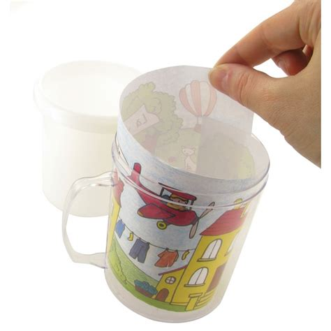 Mug A Decorer by Mug En Plastique 224 D 233 Corer 8 5x10cm