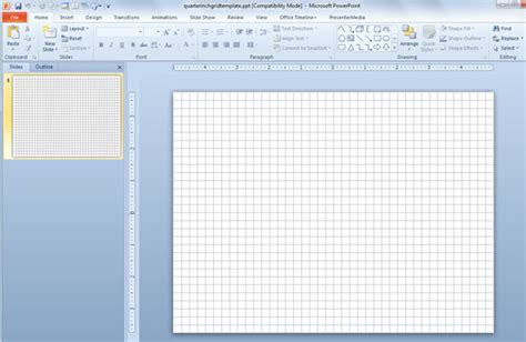 Powerpoint Layout Grid | 1 4 inch powerpoint template