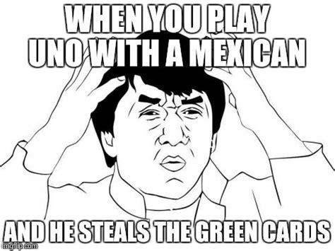 Green Card Meme - jackie chan wtf memes imgflip