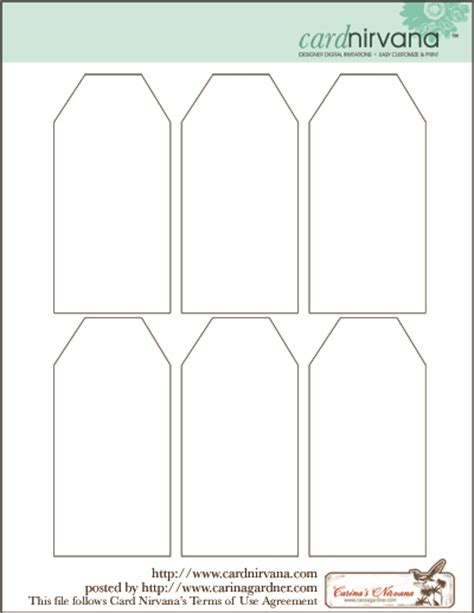 gift tag templates blank tag printable printables gift tags