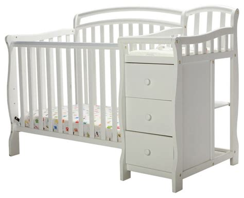 white crib and changing table on me casco 4 in 1 mini crib and changing table