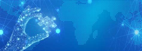 blue map dot technology amp banner background biru peta