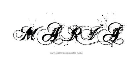 maria name tattoo design name 20 27 png
