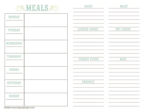 free menu planning template free family recipe templates above templates available