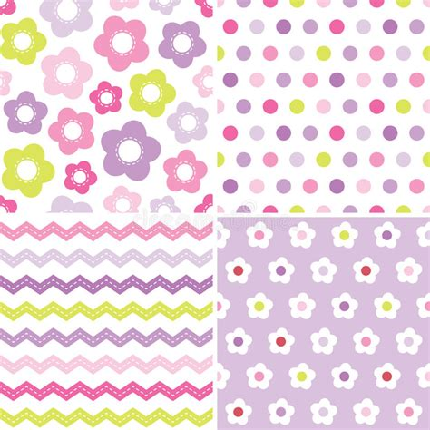 pink easter pattern cute seamless pink and purple background patterns stock