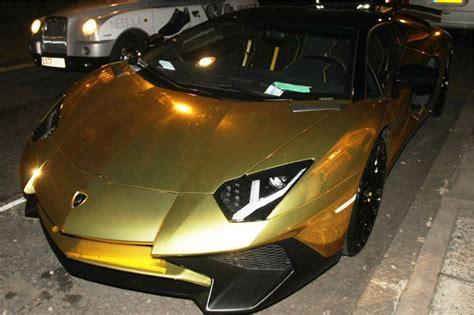Golden Lamborghini Golden Lamborghini Given Parking Ticket In Mayfair Daily