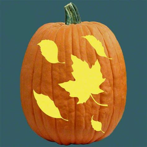 Leaf Pattern Pumpkin Carving | one of 700 free stencils for pumpkin carving and more