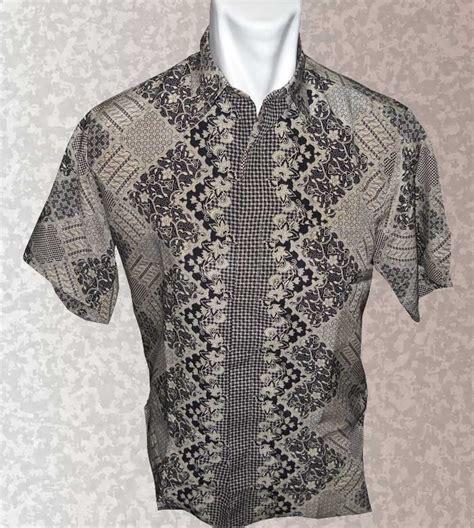 Baju Batik Hitam baju batik baju batik pria warna halus cokelat hitam motif segi sekar jagat batik indonesia modern