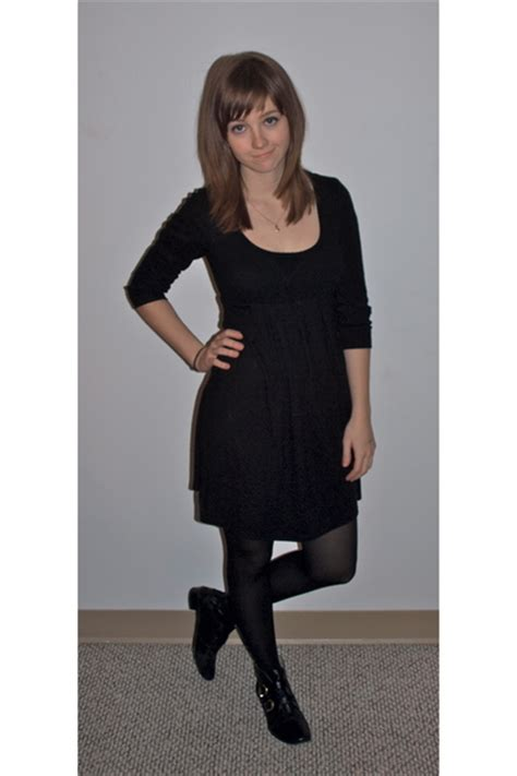 black kimichi blue dresses black american apparel tights