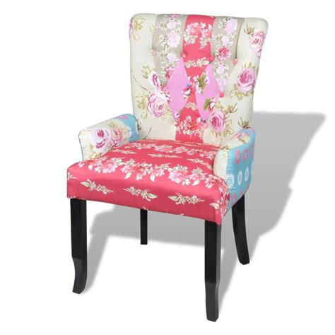 Patchwork Upholstered Furniture - patchwork chair upholstered armrest relax multi coloured