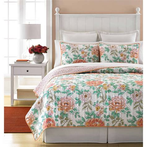 peony bedding martha stewart collection village peony quilt bedding