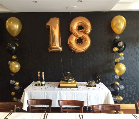 gold themes party gold and black themed 18th party megaloon large
