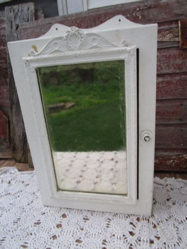 white wooden mirrored bathroom wall cabinet shabby vintage wood medicine cabinet antiques us