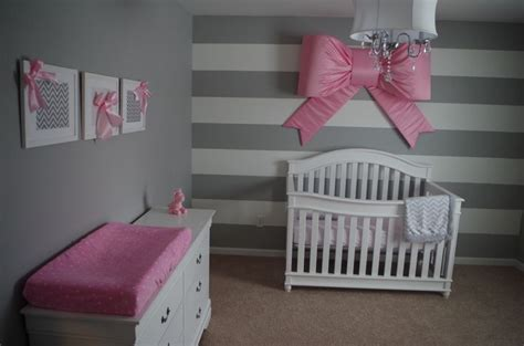 pink and white nursery olivia s nursery grey and white stripes with pink bows dream house pinterest olivia d abo