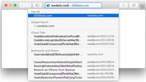Safari Search From Address Bar Fix For Safari Freezing When Typing In Address Bar Of Mac Os X Ios